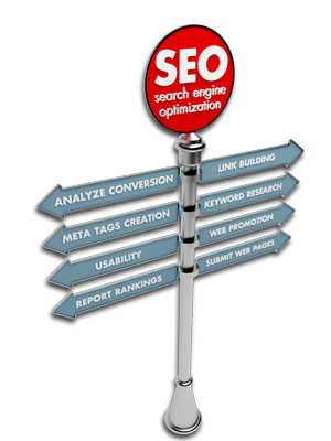 Search Engine Optimization directional sign
